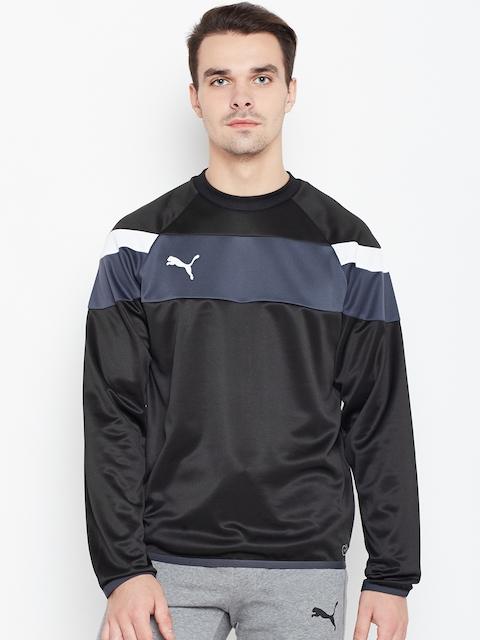 Puma Men Black & Grey Spirit II Training Sweatshirt