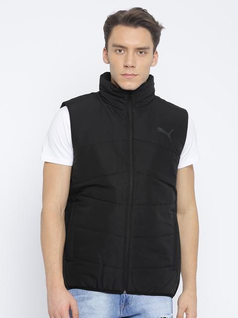 Puma Men Black Solid ESS Padded Vest Jacket