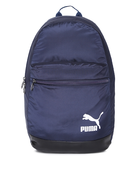 Puma Unisex Navy Blue Originals Daypack Solid Backpack
