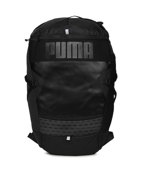 Puma Unisex Black Brand Logo Stance Backpack