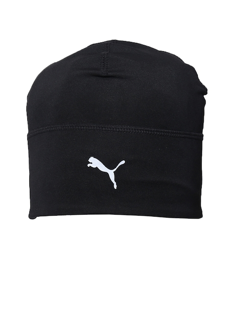 Puma Unisex Slick Running Hat Heather Black Solid Beanie