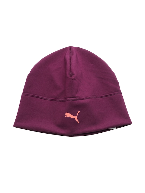 Puma Unisex Purple Slick Running Heather Beanie