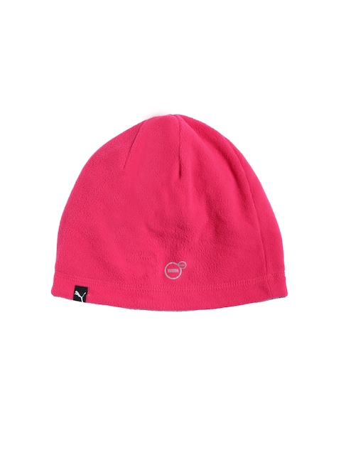 Puma Unisex Pink Solid ACTIVE Fleece Beanie