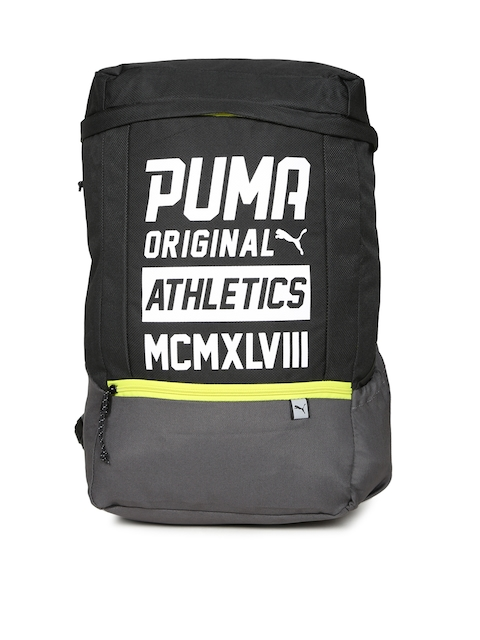Puma Unisex Black Printed Sole Backpack Plus
