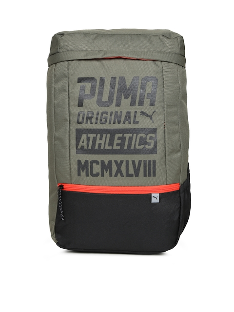 Puma Unisex Olive Green Printed Sole Backpack Plus