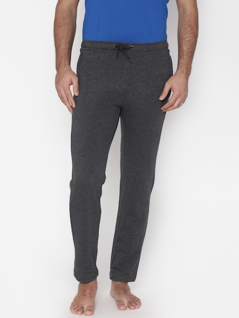 Puma Charcoal Grey Zippered Terry Lounge Pants 85005302