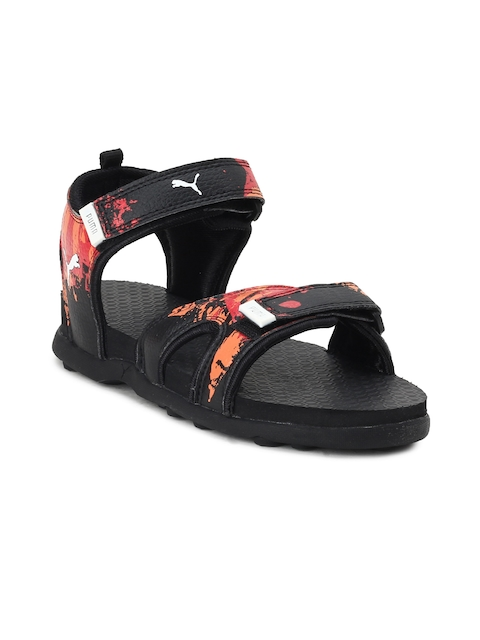 Puma Unisex Black Comfort Sandals 30% off 56bd1c12d36f