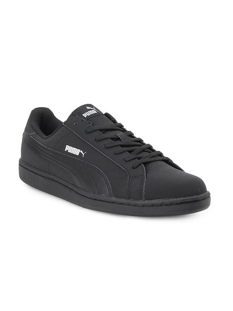 Puma Men Black Leather Smash Buck IDP Running Shoes