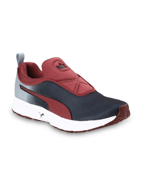 Puma Men Black EF Cushion Slipon Fade DP Running Shoes