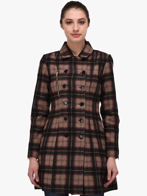 Owncraft Brown & Maroon Longline Overcoat