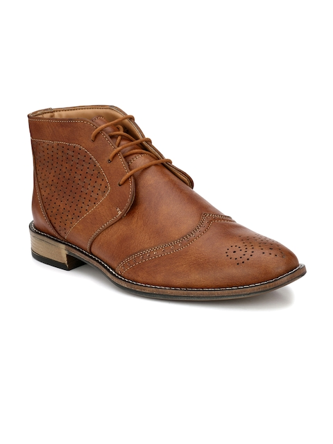 Prolific Men Tan Brown Formal Derbys