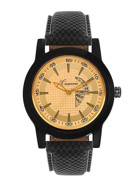 Camerii Men Gold-Toned Analogue Watch WM268