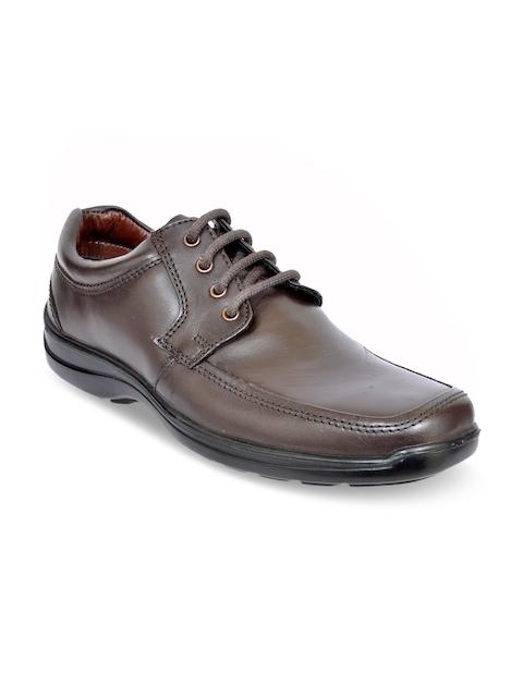 Allen Cooper Men Tan Leather Formal Derbys Shoes