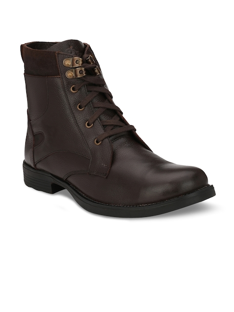 Guava Men Brown Flat Boots