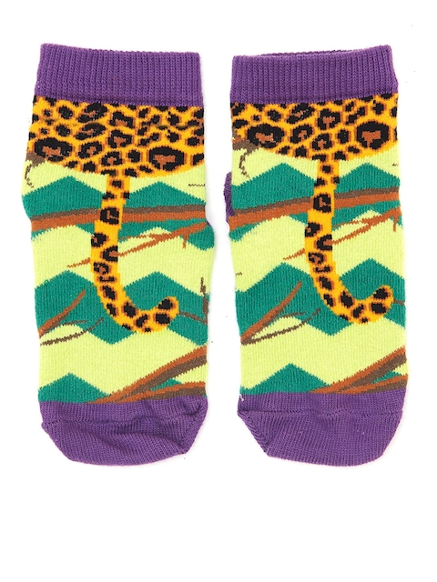 Plan B Kids Multicoloured Patterned Ankle-Length Socks