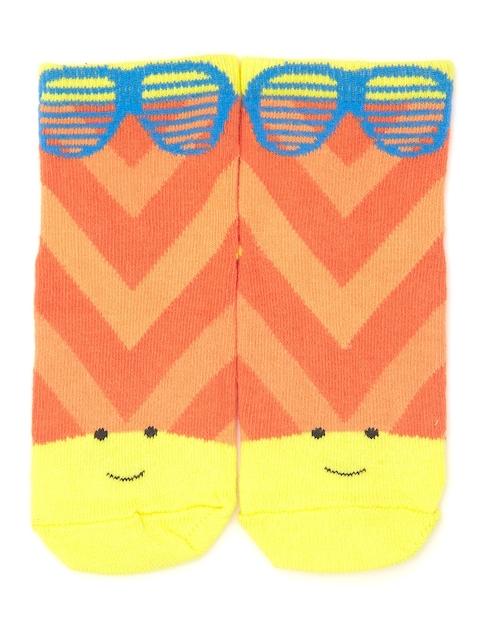 Plan B Kids Yellow & Orange Patterned Above Ankle-Length Socks