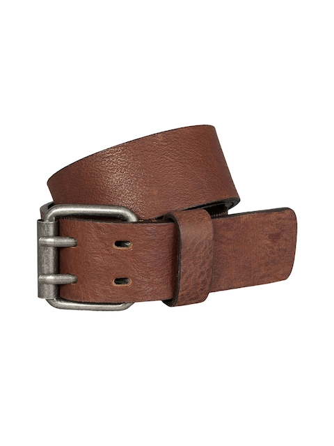 next Men Brown Solid Belt