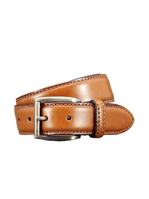 next Men Tan Solid Belt