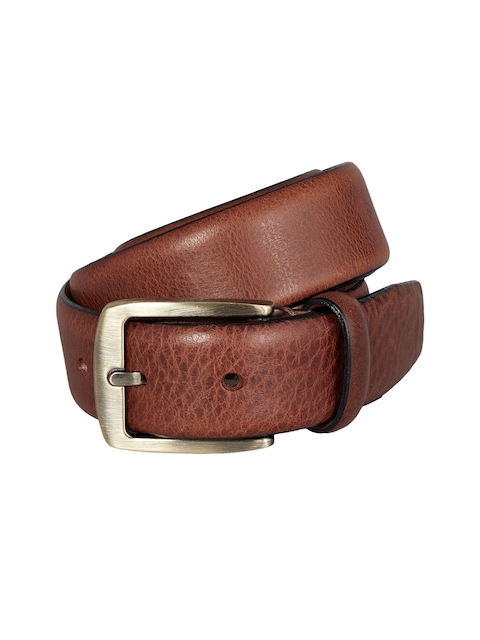 next Men Brown Textured Belt