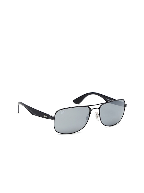 Ray-Ban Men Rectangle Sunglasses 0RB35240066G57-006