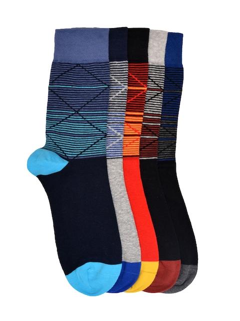 VINENZIA Men Set of 5 Patterned Above Ankle-Length Socks
