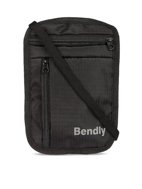 Bendly Black Fabric Travel Neck Stash