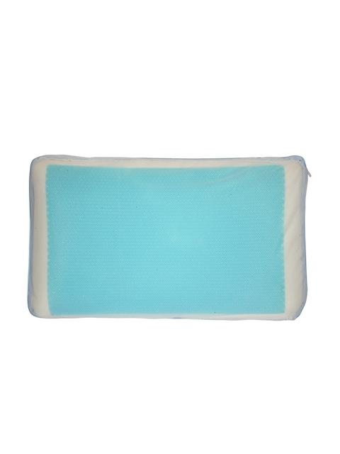 Portico New York White and Blue Memory Foam Therapedic Pillow