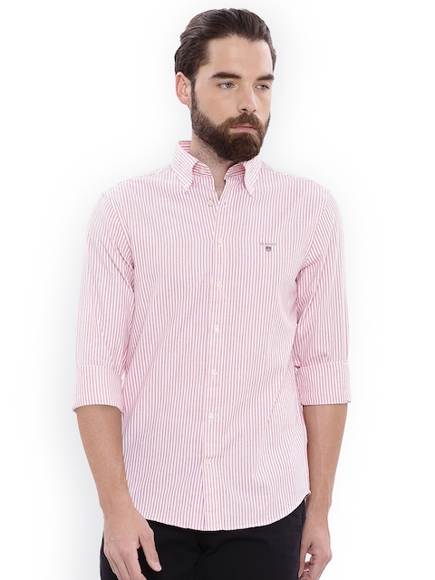 9cf56e64ed8 50%off GANT Men Red Regular Fit Striped Casual Shirt