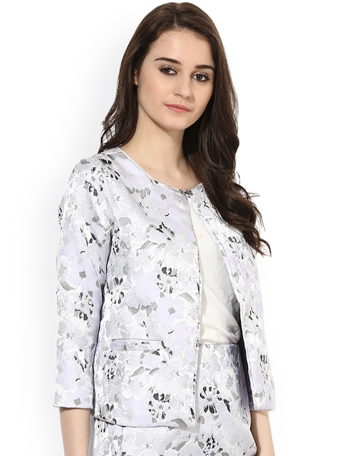 Kazo Women Mauve Printed Cape Jacket