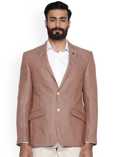Raymond Brown Regular Fit Single-Breasted Wool Blazer
