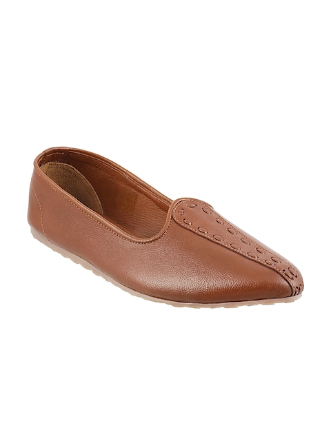Mochi Men Tan Brown Leather Shoe-Style Sandals