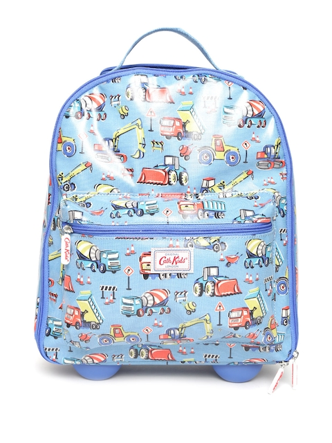 Cath Kidston Kids Blue Printed Cabin Trolley Bag