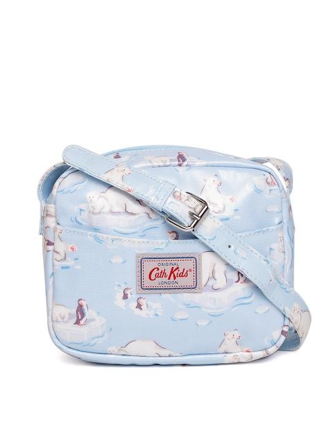 Cath Kidston Girls Blue & Off-White Printed Sling Bag