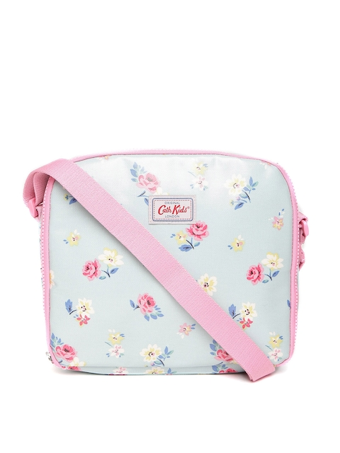 Cath Kidston Girls Blue & Pink Floral Printed Lunch Bag