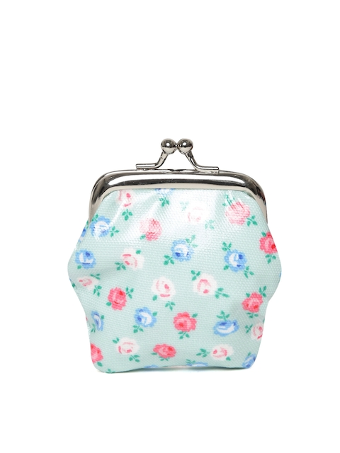 Cath Kidston Girls Green & Pink Floral Print Clutch