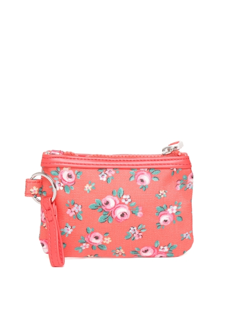 Cath Kidston Girls Red & Green Floral Print Purse