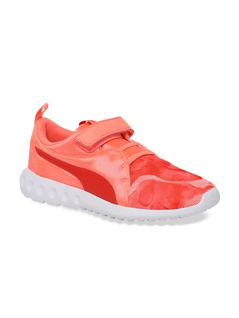 Puma Girls Orange Sneakers Carson 2 Mineral V PS