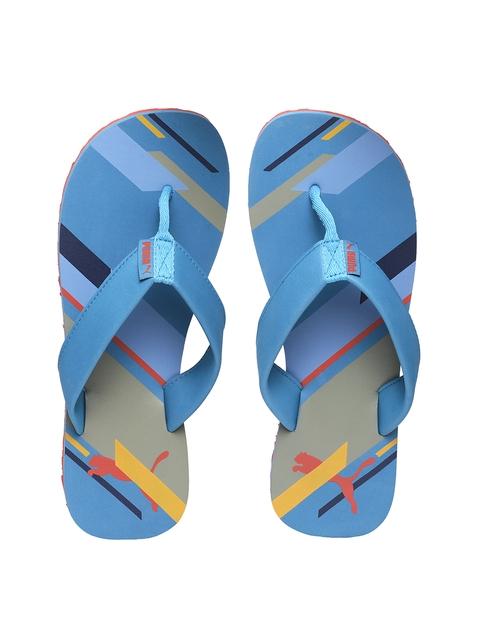 Puma Unisex Blue Solid Thong Flip-Flops