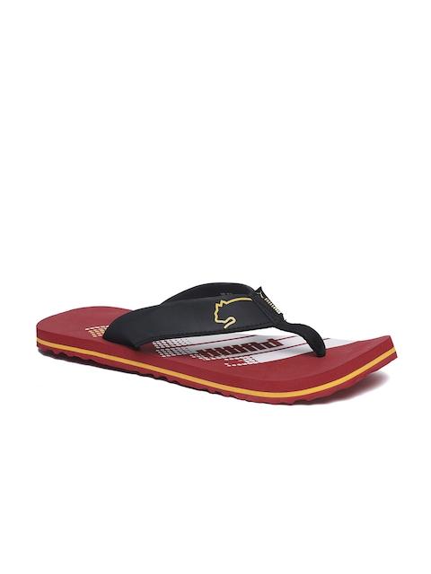 Puma Unisex Maroon Solid Thong Flip-Flops