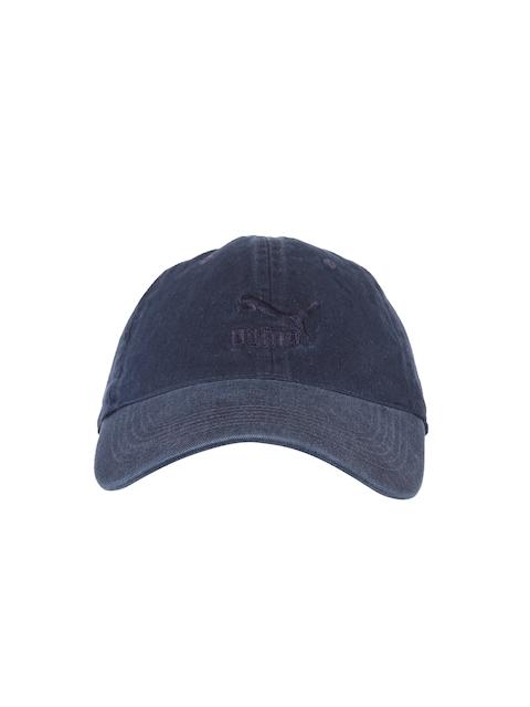 Puma Unisex Blue Solid Baseball Cap