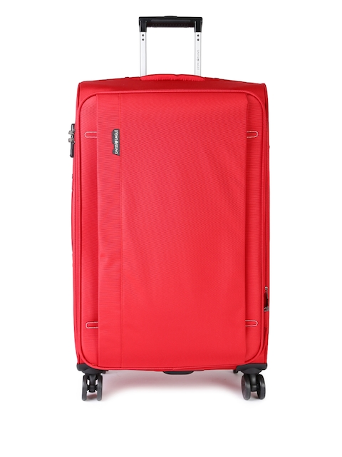 Swiss Eagle Unisex Red 24 Inch Expandable Check-in Medium Trolley Bag