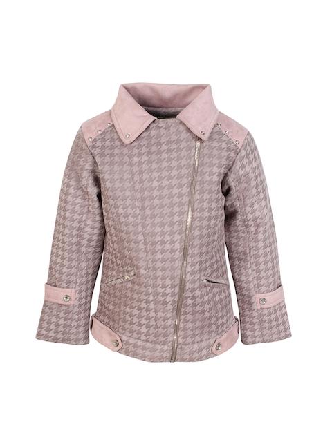 CUTECUMBER Girls Grey Printed Quilted Jacket