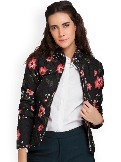 Vero Moda Women Black Printed Padded Jacket