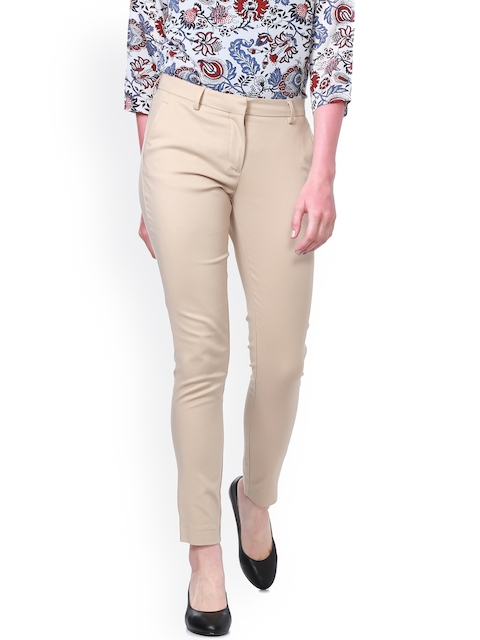 Allen Solly Women Khaki Regular Fit Solid Chinos