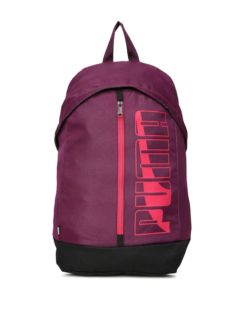 Puma Unisex Purple Brand Logo Pioneer Backpack