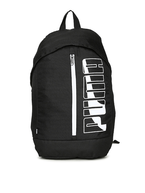 Puma Unisex Black Brand Logo Pioneer Backpack
