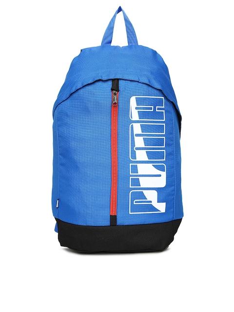 Puma Unisex Blue Brand Logo Pioneer Backpack
