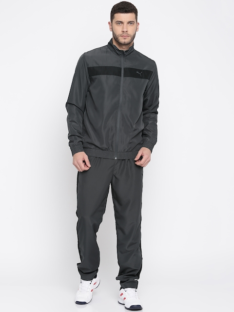 Puma Men Charcoal Grey India Woven Tracksuit