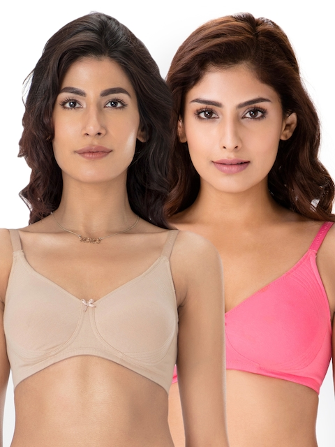 PrettySecrets Pack of 2 Solid Non-Wired Non-Padded Everyday Bras B0001