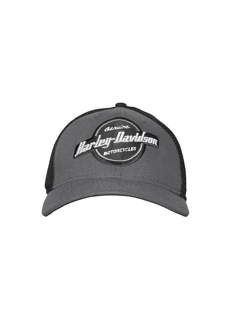 Harley-Davidson Men Grey & Black Circle Graphic 39THIRTY Embroidered Baseball Cap